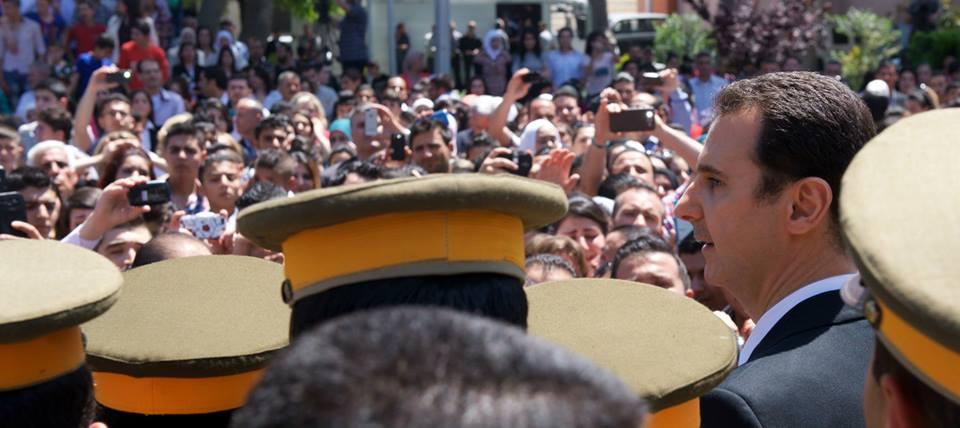 مشاركة السيد الرئيس بشار الأسد هيئة مدارس أبناء وبنات الشهداء 6/أيار/2015