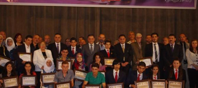 تكريم الأوائل بالشهادتين طلاب وطالبات مدارس أبناء الشهداء